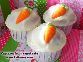 Cupcakes façon carrot cake