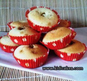 recette des muffins au coeur chocobons de Kidicakes