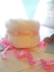 Gâteau de couches tuto de kidicakes pour la réalisation d'un gâteau de couches simple à faire. Idéal pour cadeau de naissance, baby shower.