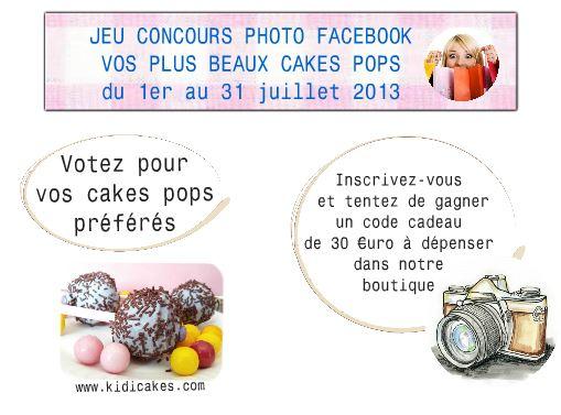Kidicakes propose un jeu concours cake pops, participez, votez pour les cake pops préférés