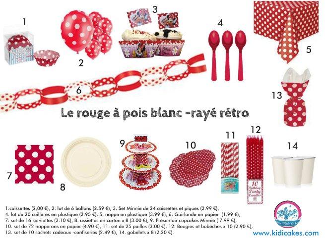 Décoration anniversaire rouge à pois blanc, sweet table rouge à pois blanc, spécial anniversaire à pois