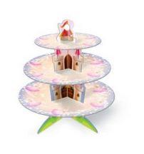 Présentoir cupcake princesse utilisé pour la recette cupcake princessePrésentoir cucpake princesse en carton rigide