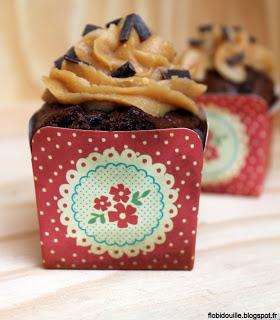 Choco-huètes de Flo bidouille en cuisine blog partenaire de Kidicakes, réalise une recette de cupcake chocohuètes.
