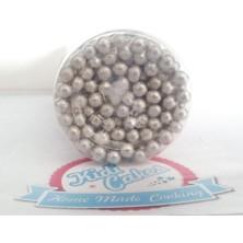 Perles nacrées  en sucre  argentées