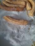 Churros  à la noix de coco rapée, recette de churros avec de la noix de coco rapée, recette churros économique, simple et rapide.