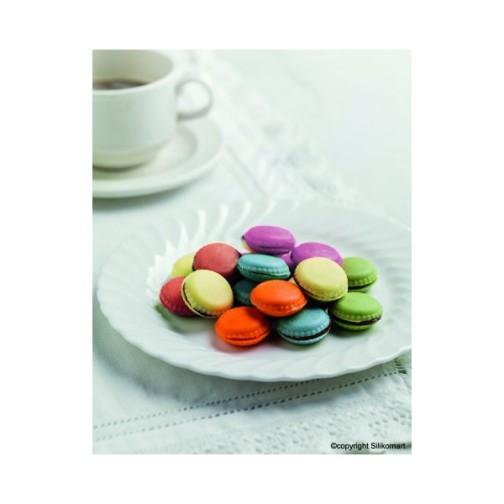 Moule macaron Silikomart, Moule macaron est multifonctionnel idéal pour la réalisation macaron en chocolat,macaron en pâte fimo, macaron en pâte à sucre. ,moule silikomart
