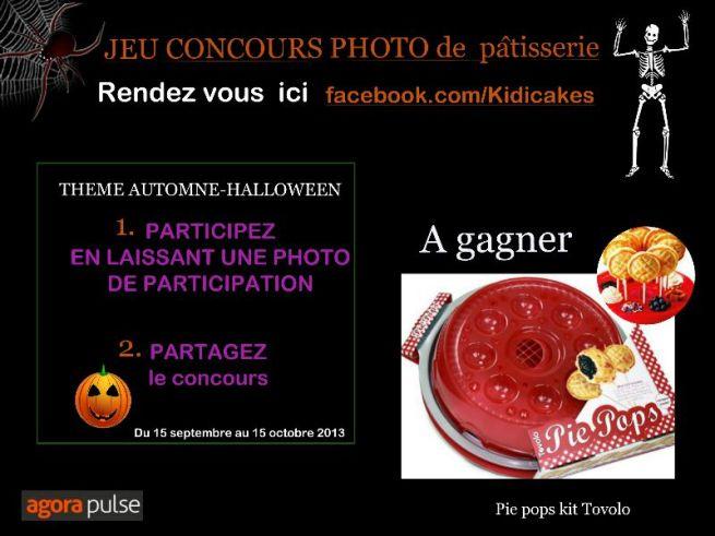 jeu concours de pâtisseriehalloween automne Kidicakes