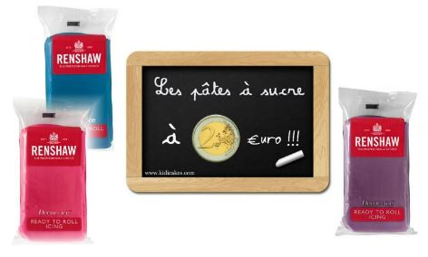 Pate a sucre renshaw 2 € large choix de couleurs pâte à sucre de 250 g disponible sur kidicakes