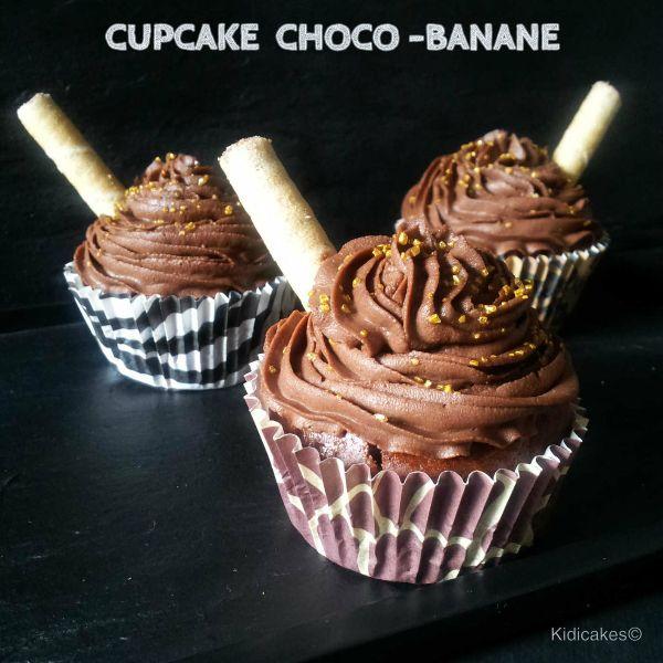 recette de cupcake au chocolat banane, retrouvez notre recette de muffin et le glaçage au chocolat