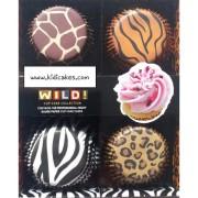 caissette cupcake animal sauvage x100 caissette en papier motif animal boutique kidicakes