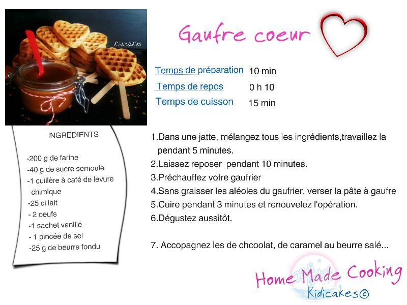Gaufre coeur au caramel beurre sal materiel - Recette de gaufre sans beurre ...