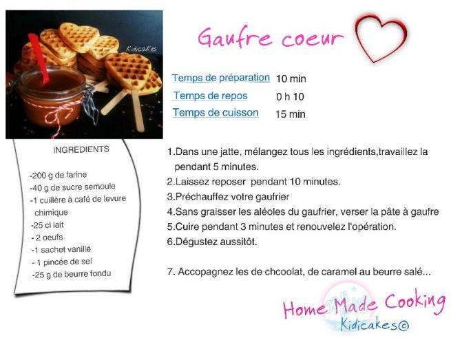 gaufre coeur la recette de gaufre coeur Kidicakes, recette du caramel au beurre salé