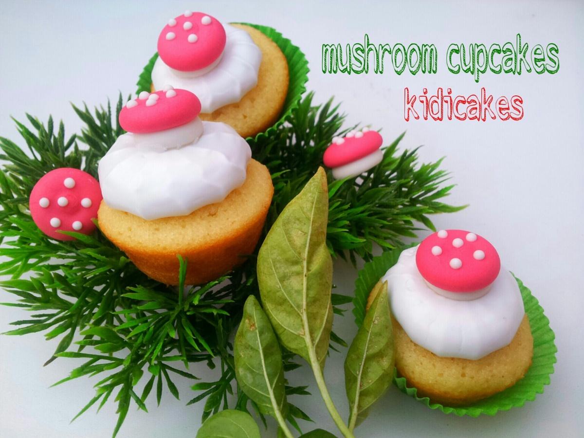Cupcake meringué décor champignon