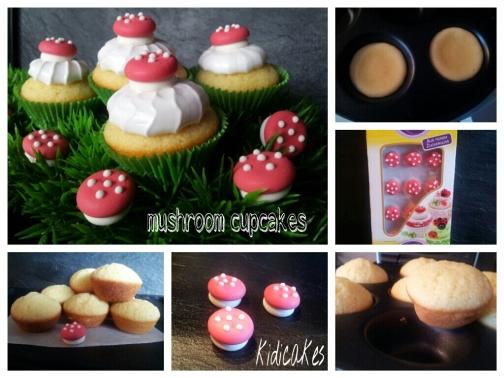 cupcake champignon Cupcakes meringué champignon mushrrom cupcakes