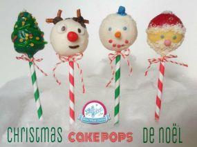 Cake pops de Noël, idée cake pops de Noêl. recettes de cake pops originaux pour Noël, proposé par Kidicakes. Les cake pops de noel pourles petits et les grands.