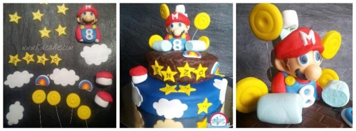 Gâteau mario bros, idée de gâteau mario bros, idéal gâteau anniversaire de thème mario bros  idée de gâteau proposé par Kidicakes