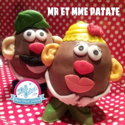 Gâteau toys tory mr et mme patate, gâteau toys tory mr et me patate, une idée recette gateau enfant por kidicakes. Gâteau mr et mme patate pâte à sucre