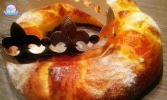 Couronne des rois  recette pour réaliser deux couronnes des rois en sucre idéal pour fêter l'épiphanie, brioche au sucre en forme de couronne. Couronne des rois pour 16 personnes