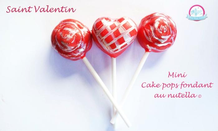Cake pops fondant au nutella©, une recette cake pops au nutella  pour les addicts de nutella, un dessert en toute simplicité. Les cake pops au nutella visible sur le blog Kidicakes