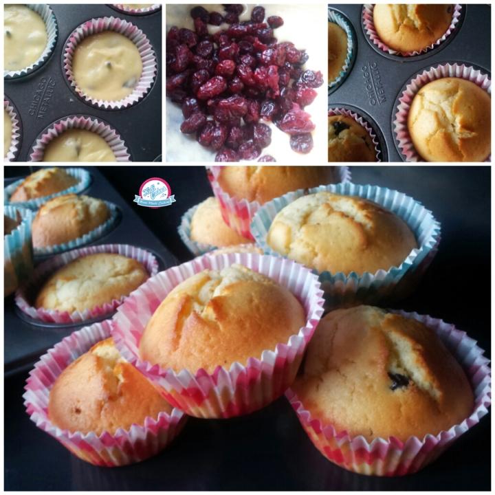Muffin à la vanille et  aux cranberries, une recette proposé par Kidicakes. Cupcake muffin aux cranberries avec des ingrédients naturels. Réalisez vite les cupcakes aux cranberries