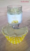 Crème au citron Decora à étaler, crème au citron pour la recette au cupcake au citron à découvrir sur Kidicakes
