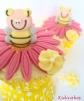 cupcake au citron cupcake abeille idéal pour baby shower abeille. Recette cupcake au citron disponible sur Kidicakes