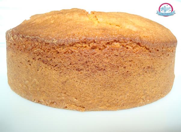 Sponge Cake Avec Des Gaufres