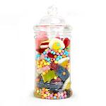 Bonbonnière victorienne en plastique pour candy bar sweet table à remplir de bonbons