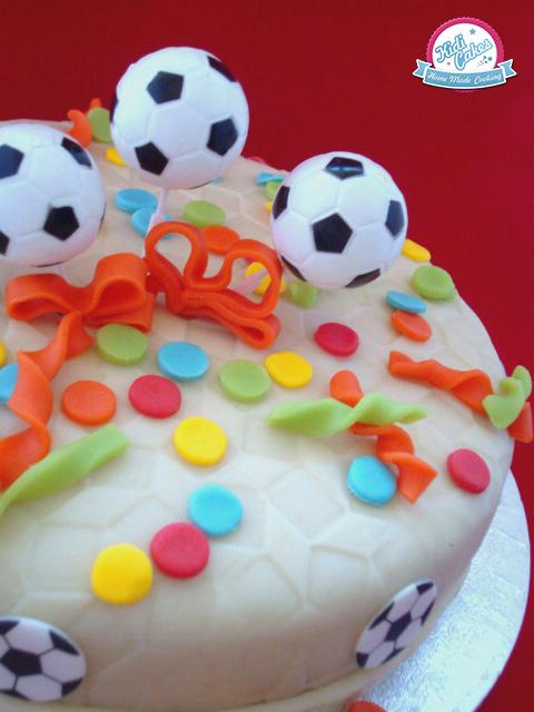 Gâteau de football facile à réaliser pour un anniversaire de thème football ou pour la coupe du monde de football.Gâteau facile et déclicieux pour un anniversaire sympa