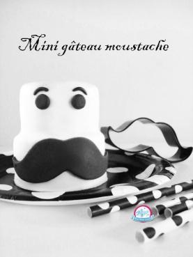 mini gateau moustache