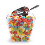 Pot pop corn transparent spécial décoration candy bar. Pot pop corn à remplir de pop corn, bonbons, Pot pop corn en au bord cranté