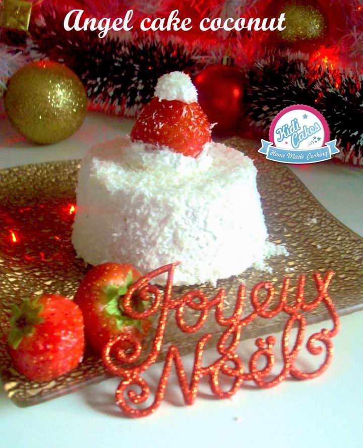 Délicieuse recette de l'angel cake à la noix de coco ou coconut. L'angel cake est  un gâteau aérien doux au bon parfum  à la noix de coco, ce gâteau est parfait pour les fêtes à découvrir sans attendre
