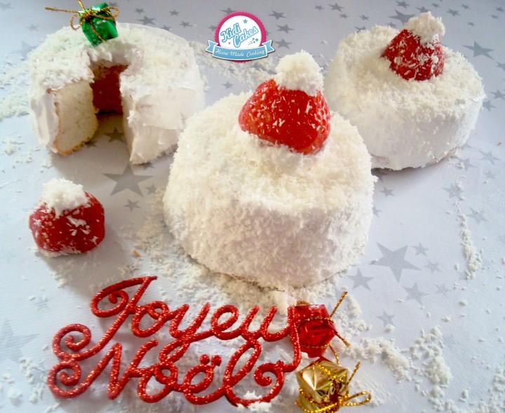 Sublime recette de l'angel cake à la noix de coco ou coconut. L'angel cake est aérien doux au bon parfum à la noix de coco, ce gâteau est parfait pour les fêtes